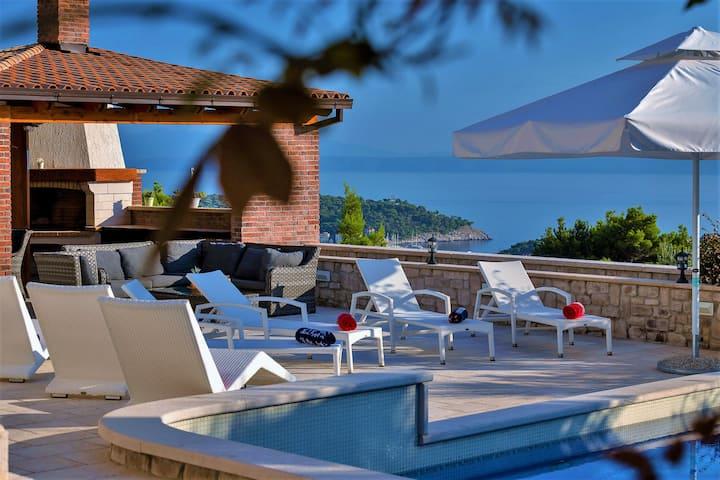 Villa Vikki with pool and seaview