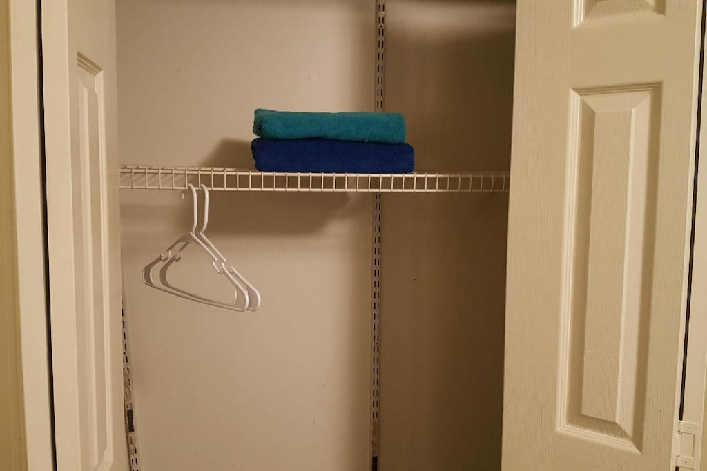 Hangers and towels are available for you convenience if you like.