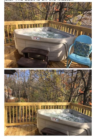 Brand new, comfortable and HOT hot tub on the deck off the Master suite