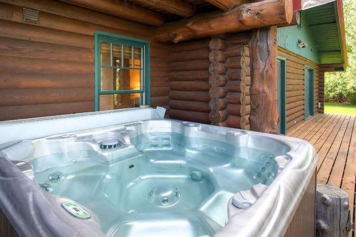 Look forward to relaxing in the soothing, private hot tub after a day of outdoor adventure.