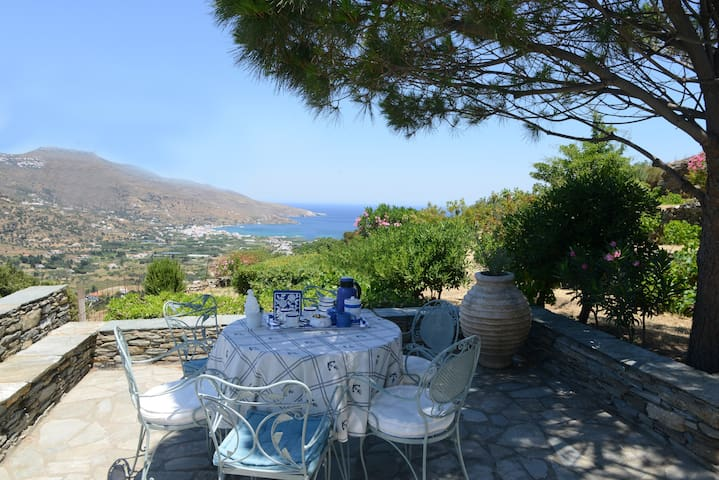Andros, Cyclades, traditional village house