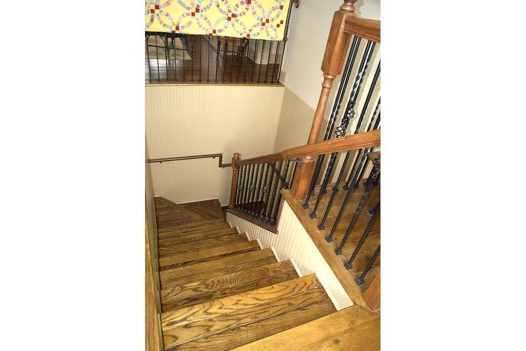 Upon entering you will ascend a staircase where you have exclusive use of the private upstairs apartment.