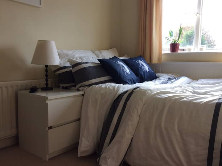 Comfy double rooms in a lovely area  /back room