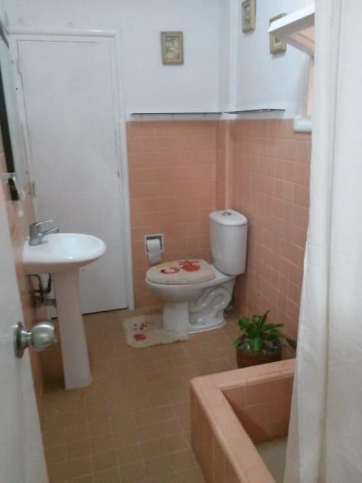 baño totalmente equipado.