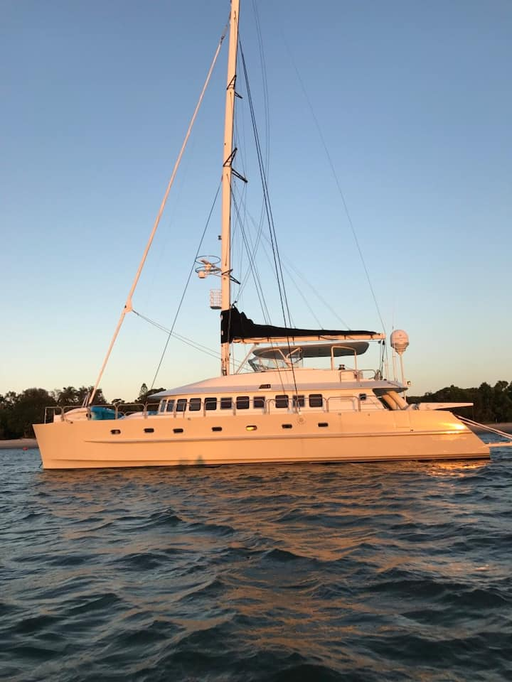 Luxury 65ft Sailing Catamaran Yacht - 4 Bedroom