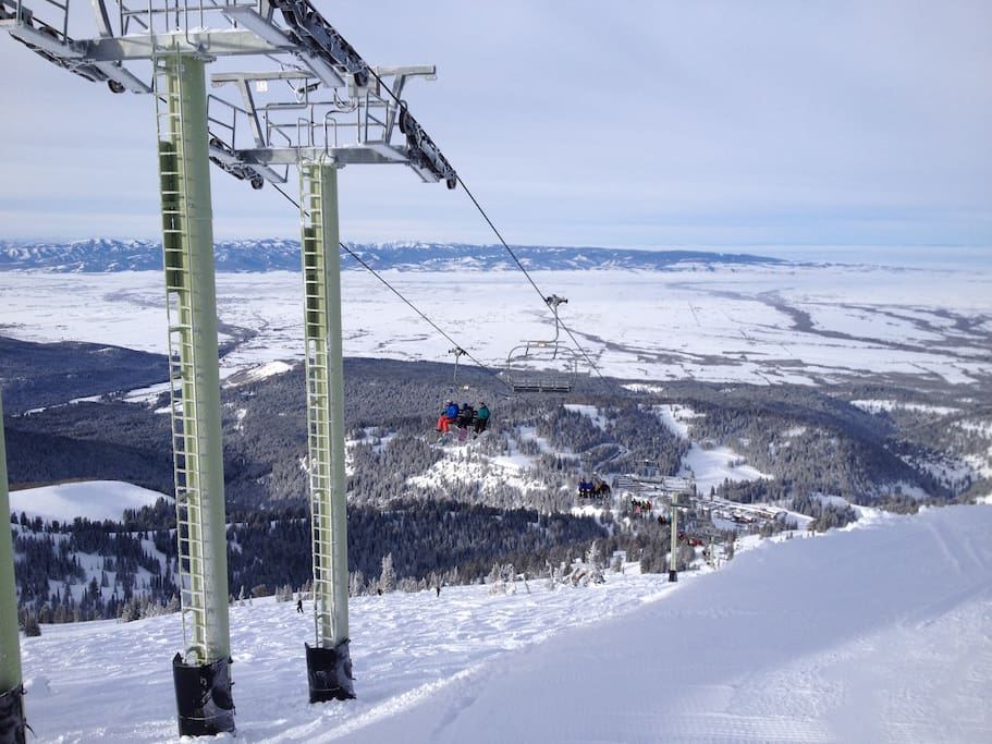 "Grand Targhee averages 500"" of snow a year"