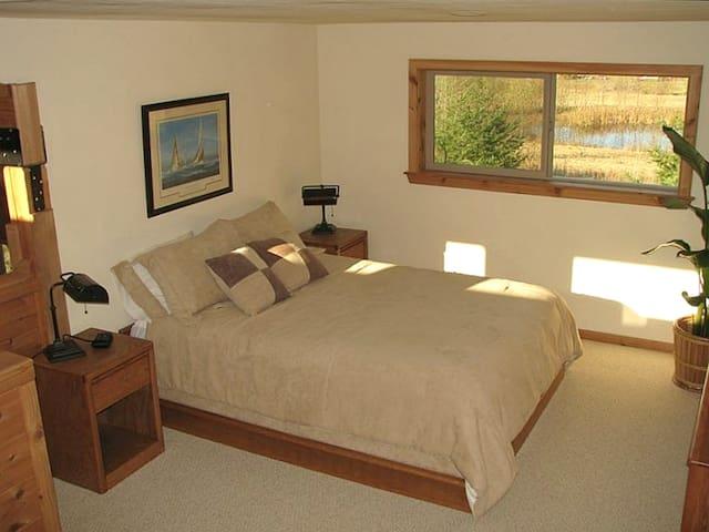 Upstairs Open Bedroom has a Queen Bed plus 4 Single Bed Options