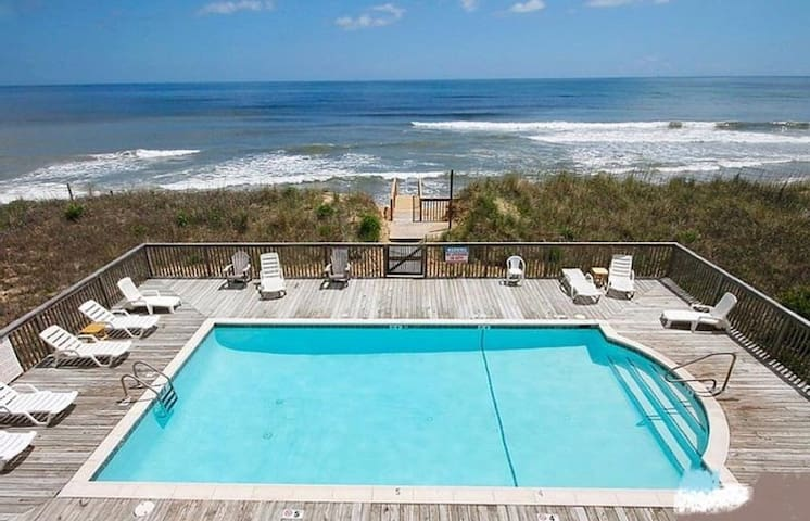 Oceanfront property with direct beach access!