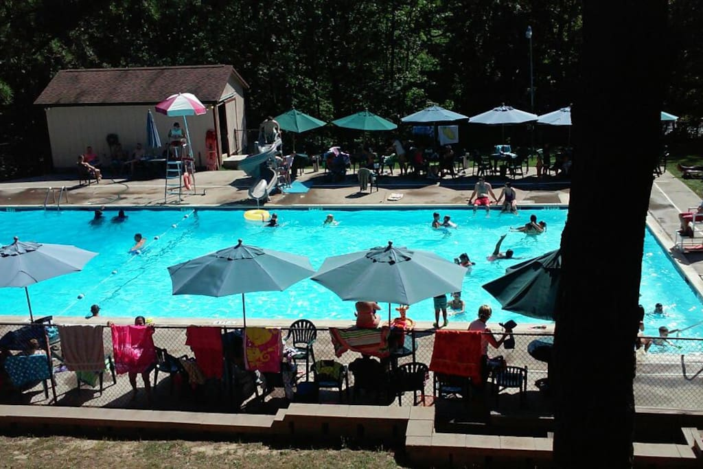 1 of 2 pools  heated pool open from memorial day till labor day