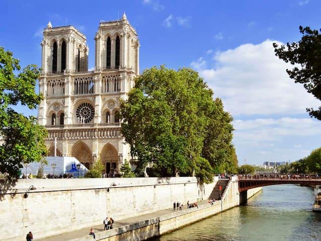 Pompidou/Notre Dame PRIVATE STUDIO Marais #101