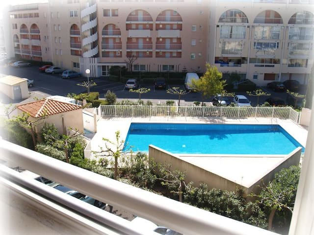 5 minutes de la plage Richelieu, piscine, parking