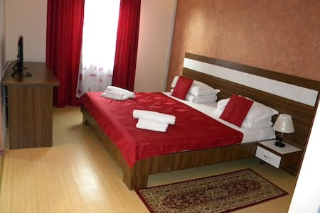 Big double room with private terrace,grill,pools. - Năvodari - Apartament
