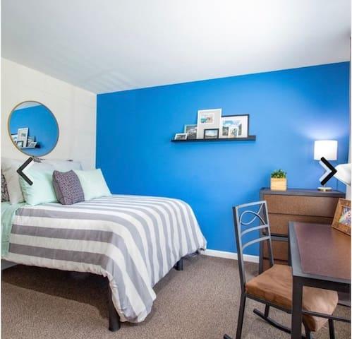Fun innovative room + private bath and closet
