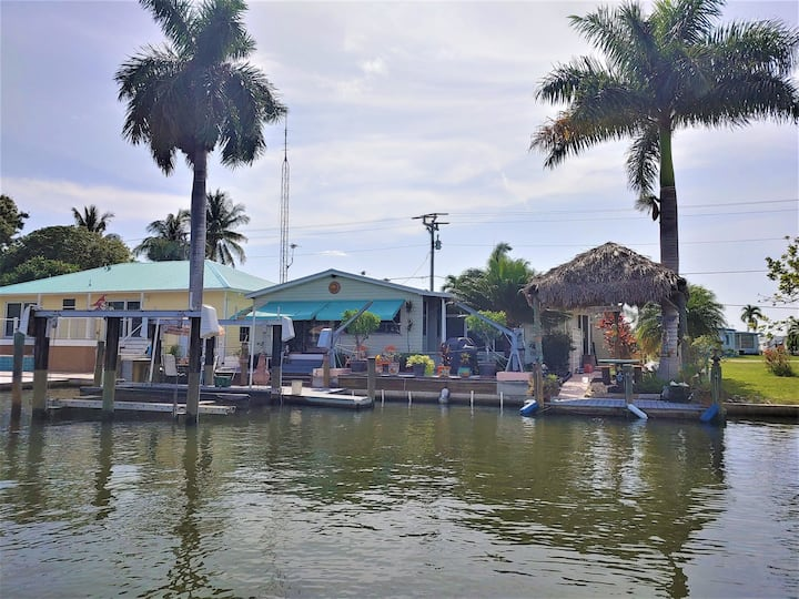 Cheeky Tiki Hut ~ situated on the Monroe Canal