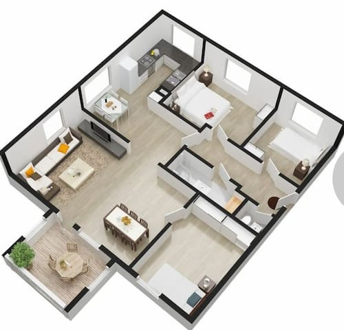 Nordre Toppe 84m2 3bedrooms