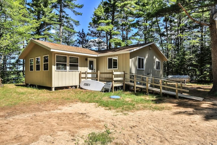 TWO CABINS-SUMMER · Two cabins on the scenic shores of Pickerel Lake