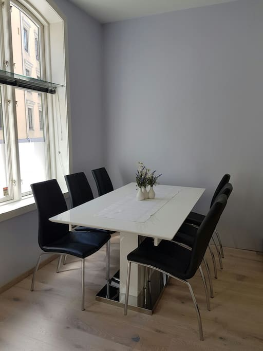 Dining table is perfect for a big family