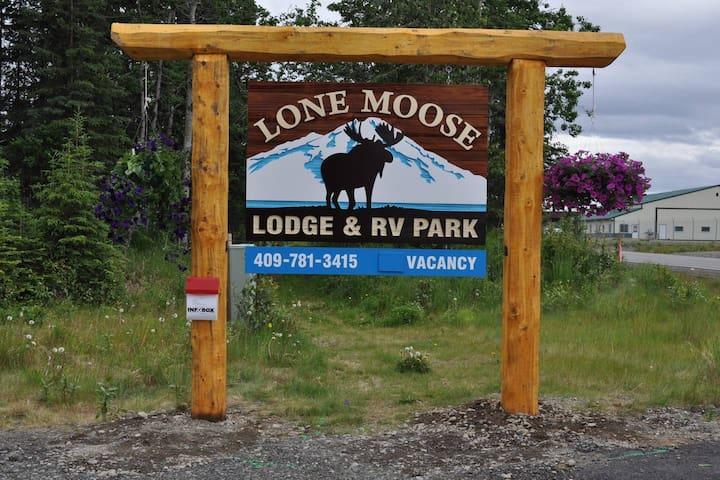Alaskan Kenai River VIP RV dry spot #2 no hookups