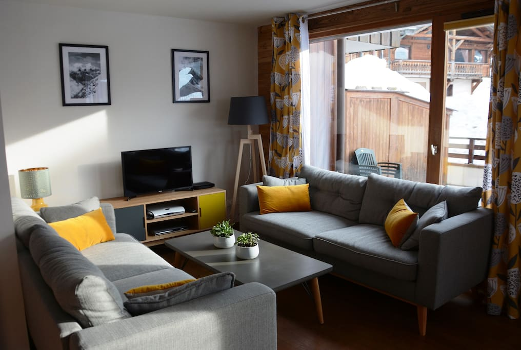 Living area (one sofa is a double sofa bed)