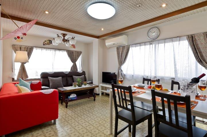 아사쿠사,우에노 3침실,5더불침대,3화장실,2샤워,역에서3분,하네다46분,나리타51분
