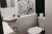 WC ouvrant sur le couloir