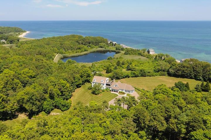 9.8 Acre Ocean Estate, Pool, Spa, Private Beach