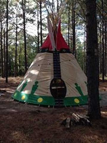 Spirit Warrior Tipi at Music Springs
