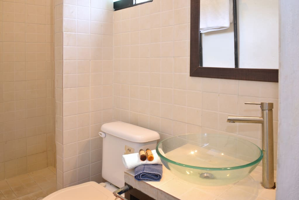 Ensuite bathroom with hot water and essentials