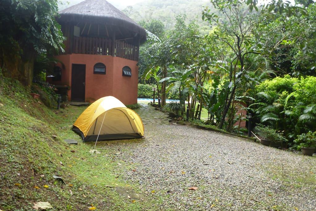 Área onde pode acampar