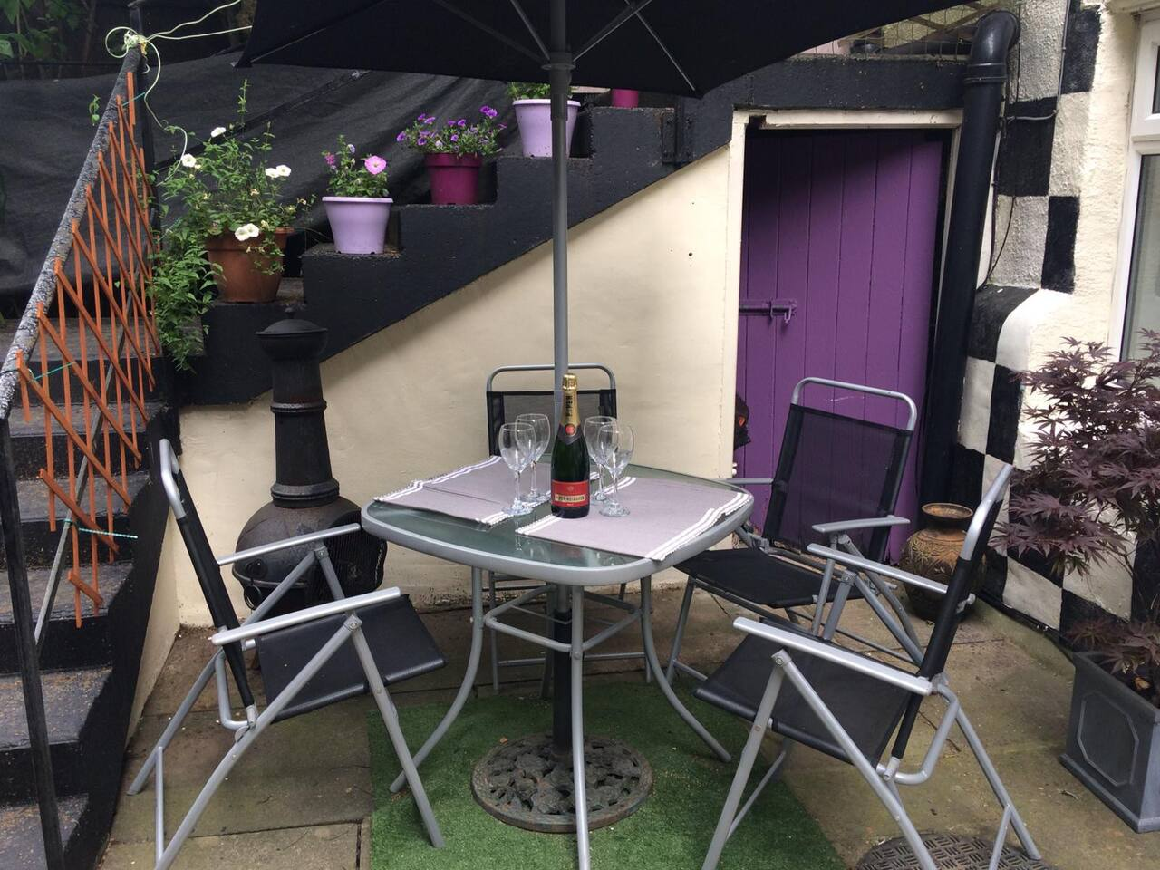 Relax on the patio, enjoying a few drinks and maybe a BBQ?