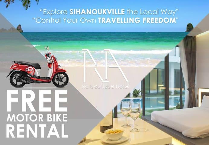 NA Boutique Hotel and Apartment (Free Motor Bike) - Krong Preah Sihanouk - Lakás