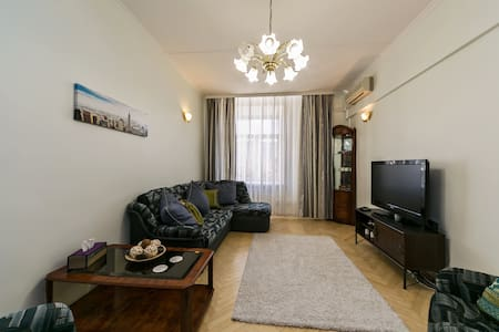 Cozy aprt with a view m.Park Pobedy - Moskva - Appartement