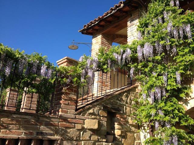 Apartament 'GLICINE', terrace  with fantastic view - Arezzo - Apartament