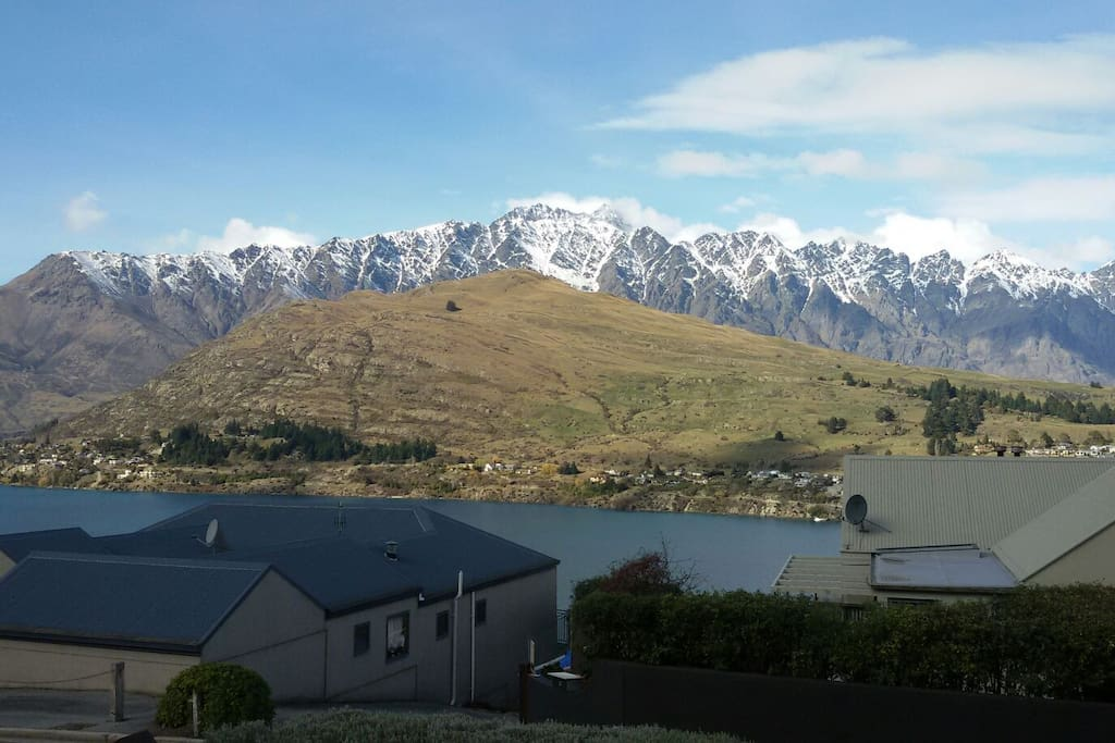 Amazing views of Lake Wakatipu and the Remarkables from dining area