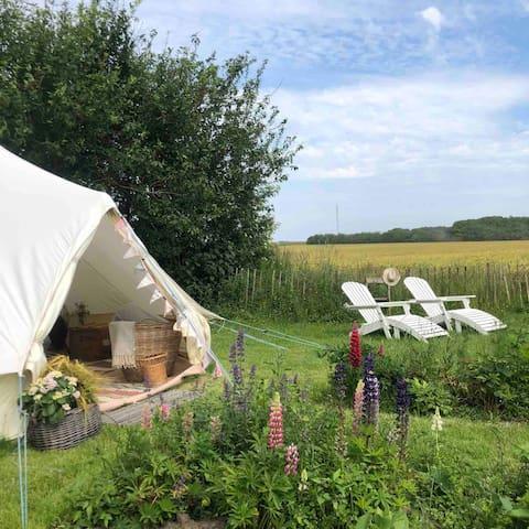 Canvas telt i naturskønne omgivelser nær Skive