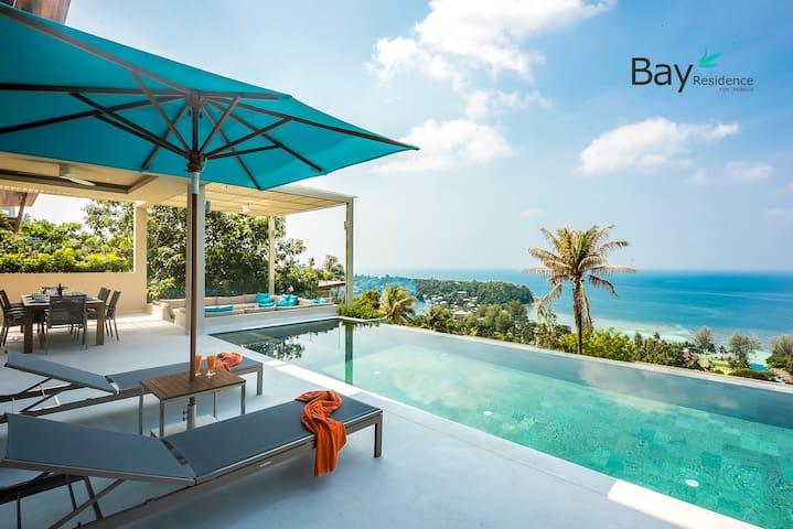 Ultimate 4Br- Pool, Panoramic Sea View, 500m beach