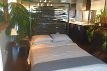 Optional: Second room (semi private)  Double bed (sofa bed) OR  Office area