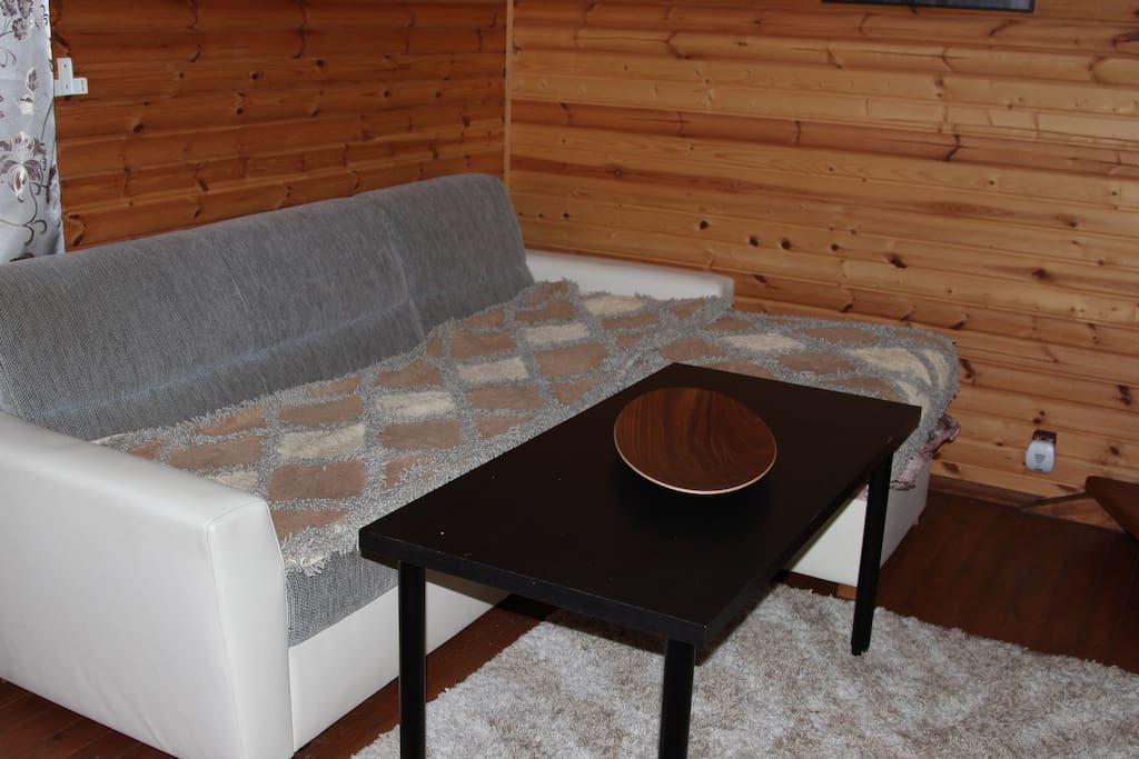 Раскладной диван в зале 1 этажа