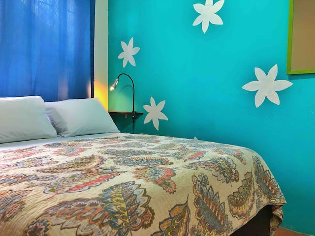 The apartment features a second bedroom with a queen size bed & orthopedic mattress, soft pillows and 100% cotton bed-linen; air conditioning and closet. Window with blackout curtain gives you a completelly dark atmosphere if you are a long sleeper.