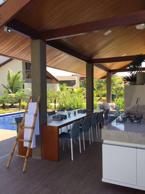 Terraço Gourmet com piscina privativa