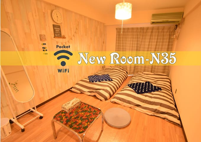 N35★New Open Price★near Namba★relax Room:) - Naniwa Ward, Osaka - Huoneisto