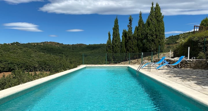 Villa with 3 bedrooms in Castelnou, with wonderful mountain view, shared pool, enclosed garden
