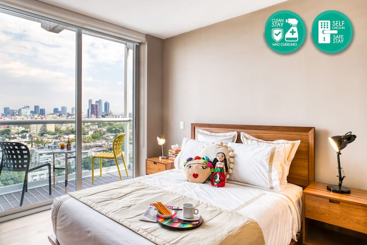 Department with 2 br. Cozy spot with high quality bedding