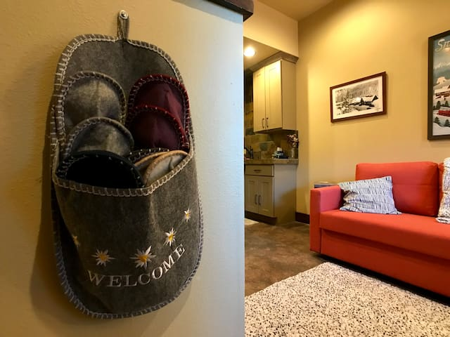Comfy slippers for guests
