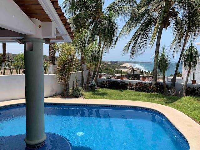 #1 Esmeralda. (2ó4pers) Zicatela View. Pool/garden