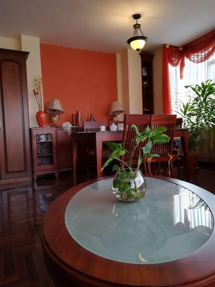 Apartamento cómodo:  centro de la ciudad de Loja