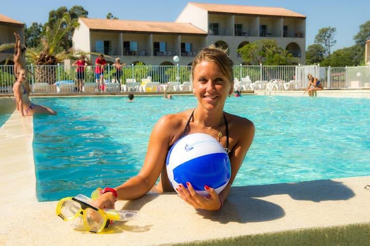 Corse bord mer : appart*** /6 pers avec piscine