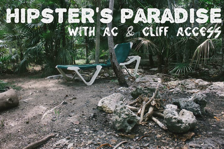 Hipster's Paradise w/ AC & WIFI & Cliff Access