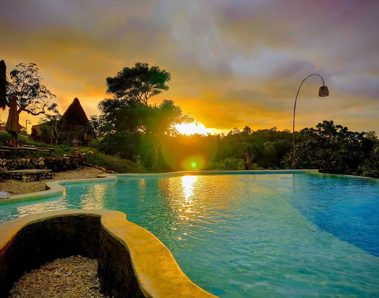 Amazing Sunset view from the pool