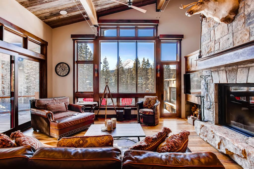 Living area with views of Quandary Peak!